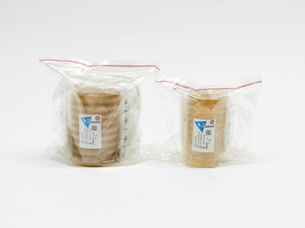 Triple wrapped microbiology media from AB Scientific