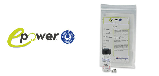 E-Power QC organisms prepared to set concentrations