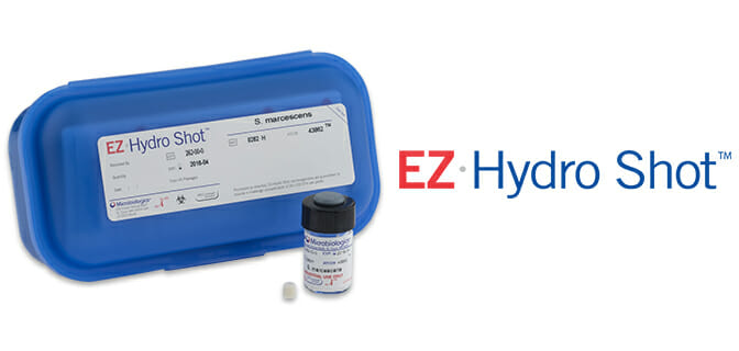 EZ HYDRO SHOT for QC testing in water laboratories