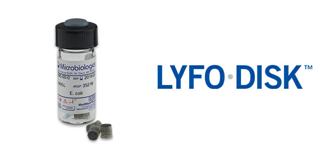 Lyfo Disk - lyophilised microorganisms in pellet format.