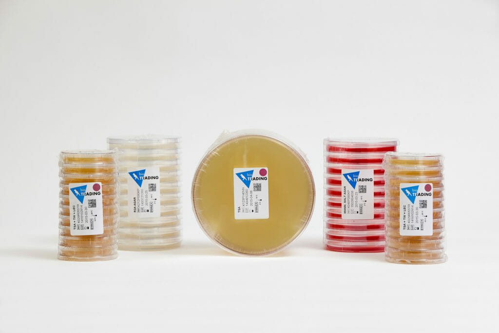 Selection of agar plates from AB Scientific.